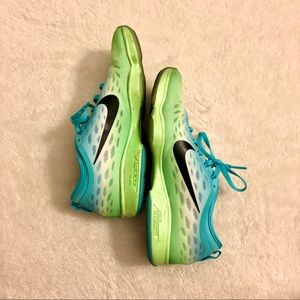 Nike Zoom Shoes - turquoise/white/green fade